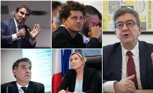 Les principaux responsables des partis d'opposition.
