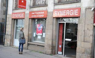 Nantes, le 11/01/2011 Une agence interim Synergie, quai de la fosse