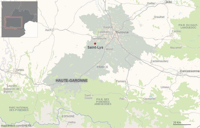 La commune de Saint-Lys est située à 25 km de Toulouse.