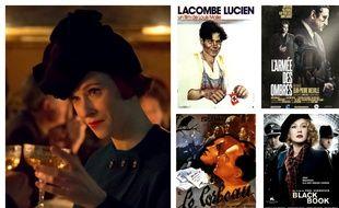 A gauche, Audrey Fleurot dans «Un Village français» et les affiches de «Lacombe Lucien», «L'Armée des ombres», «Le Corbeau» et «Black Book».