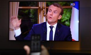 Emmanuel Macron à la télévision, le 15 octobre 2017.