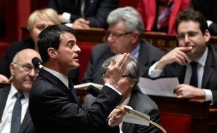 Le Premier ministre Manuel Valls à l'Assemblée nationale, à Paris, le 1er mars 2016