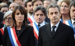 La députée LR de Haute-Garonne, Laurence Arribagé, aux côtés de Nicolas Sarkozy.