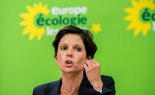 Sandrine Rousseau, tête de liste d'EELV dans le Nord-Pas-de-Calais-Picardie, le 19 août 2015 à Villeneuve-d'Ascq
