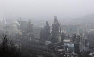 Le site d'ArcelorMittal à Florange (Moselle)le 23 février 2012.
