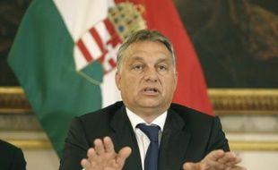 Le Premier ministre hongrois Viktor Orban le 25 septembre 2015 à Vienne