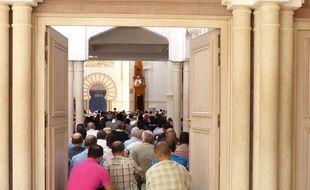 Le 29 juillet 2016, à la grande mosquée de Lyon.