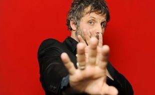 L'humoriste et acteur français Stéphane Guillon lors de la 4e édition du Festival «Paris fais sa Comédie» le 29 mars 2010.