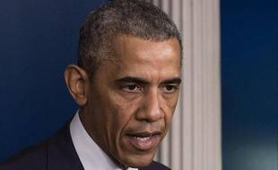 Le président Barack Obama s'exprime sur la situation en Ukraine, à la Maison Blanche, le 18 juillet 2014