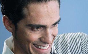 Alberto Contador, en octobre 2010, à Madrid.