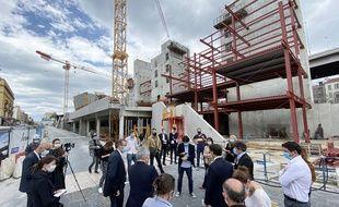 Sur le chantier du futur complexe Iconic, à Nice, ce mardi matin