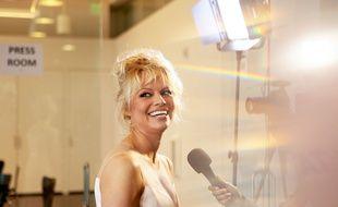 Pamela Anderson, à un événement PETA, en juin 2016.