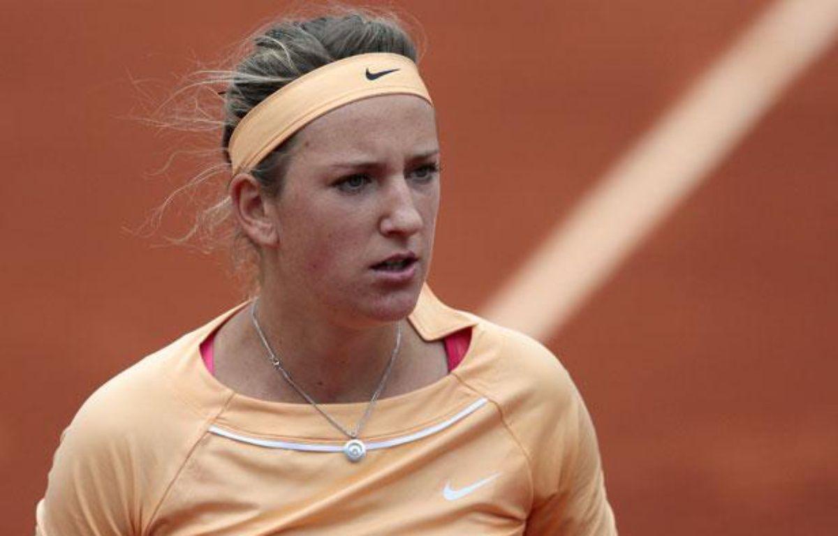 Victoria Azarenka, le 4 juin2012, àRoland-Garros.  – JACQUES DEMARTHON / AFP