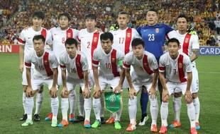 L'équipe de Chine lors de la Coupe d'Asie, en 2016