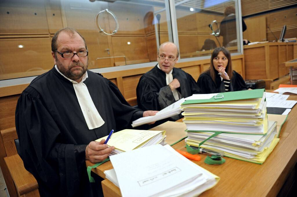 Eric Dupond-Moretti lors d'une audience devant la cour d'assises d'Aix-en-Provence, en 2010.
