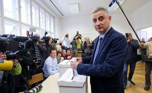 Tomislav Karamarko, leader du principal parti d'opposition croate, le 8 novembre 2015 à Zagreb