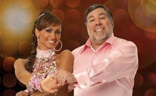 La danseuse Karina Smirnoff et le co-fondateur d'Apple, Steve Wozniak