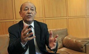 Beyrouth le 13 septembre 2012. interview de Jean Yves Le Drian ministre de la defense lors de sa visite au moyen orient, en Jordanie et au Liban.