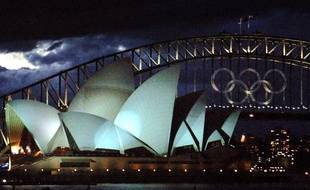 Les anneaux olympiques lors des JO de Sydney, en 2000.