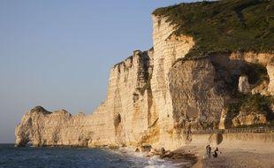 Les falaises d'Etretat.