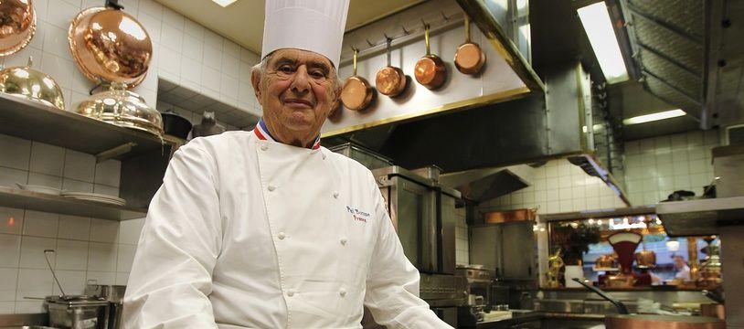 Lyon, le 20 septembre 2012. Paul BOCUSE dans son restaurant de Lyon.
