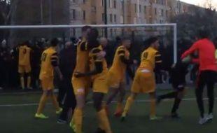 Les joueurs de La Duchère ont fêté comme il se doit leur nouvelle qualification pour les 32es de finale de Coupe Gambardella.