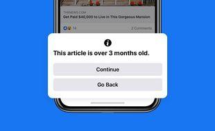 """Facebook veut lutter contre les """"old news"""""""