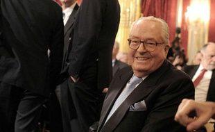 Jean-Marie Le Pen à Paris, le 11 janvier 2012.