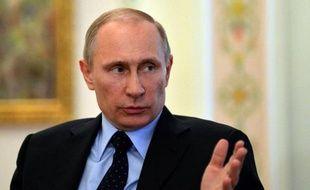 Le président russe Vladmir Poutine dans sa résidence de Novo-Ogaryovo, près de Moscou, le 5 mars 2014