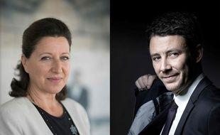 Agnes Buzyn et Benjamin Griveaux. (Photos by Eric Feferberg and JOEL SAGET / AFP)