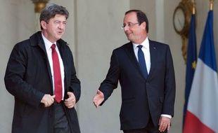 """Jean-Luc Mélenchon, co-président du Parti de gauche (PG), a affirmé mardi que si Marine Le Pen, présidente du Front national, n'était pas reçue à l'Elysée par François Hollande, c'est """"sans doute"""" parce qu'elle ne l'avait """"pas mérité""""."""