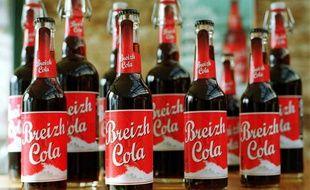 Illustration de bouteilles de Breizh Cola.