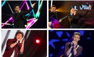 Lisandro Cuxi, les Madame Monsieur, Louka et Max Cinnamon, candidats de Destination Eurovision.