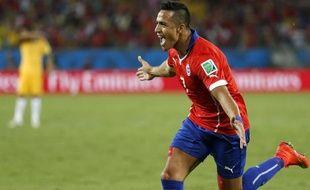 Le Chilien Alexis Sanchez, lors du match contre l'Australie, le 13 juin 2014.