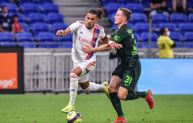 Le latéral droit Malo Gusto (18 ans) a été l'une des révélations de cette belle victoire contre Wolfsburg samedi. PHILIPPE DESMAZES