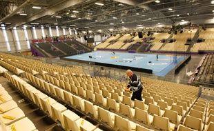NANTES, le 11/12/2013, le stade indoor fait construit pour accueillir le match de hand Nantes PSG
