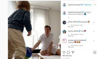 Capture d'écran du compte Instagram de Wojciech Szczesny.