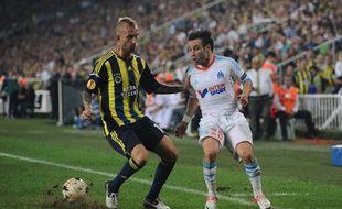 Le Marseillais Mathieu valbuena sur la pelouse de Fenerbahçe, le 20 septembre 2012.