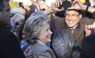 Hillary Clinton après son vote à l'élection présidentielle américaine, le 8 novembre 2016