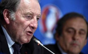 Jacques Lambert lors d'une conférence de presse le 25 avril 2014.