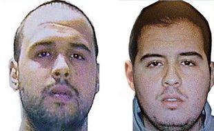 Montage photo. Les frères El Bakraoui. A droite, Ibrahim. A gauche, Khalid.