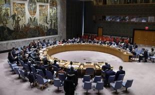 Le Conseil de sécurité de l'ONU à New York, le 5 mars 2020.