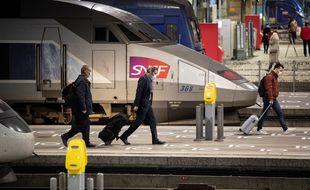 Un TGV en gare Montparnasse (image d'illustration).