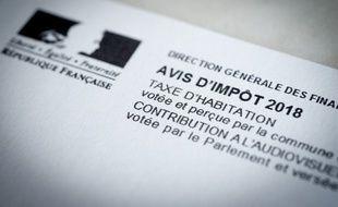(Illustration) Un avis de taxe d'habitation et de contribution à l'audiovisuel public.