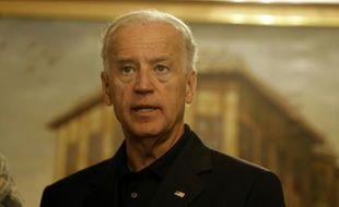 Le vice-président Joe Biden lors d'une précédente visite surprise en Irak, à l'ambassade des Etats-Unis à Bagdad, le 3 juillet 2010