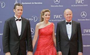 Inaki Urdangarin, Cristina d'Espagne et Juan Carlos 1er le 22 mai 2006 à Barcelone