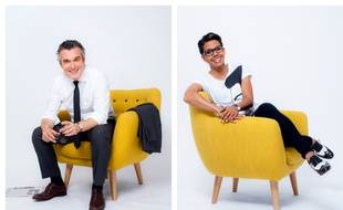 Olivier Ravanello et Audrey Pulvar, journalistes à iTélé.