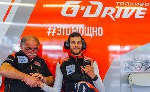 Pierre Thiriet lors des essais des 24 Heures du Mans.