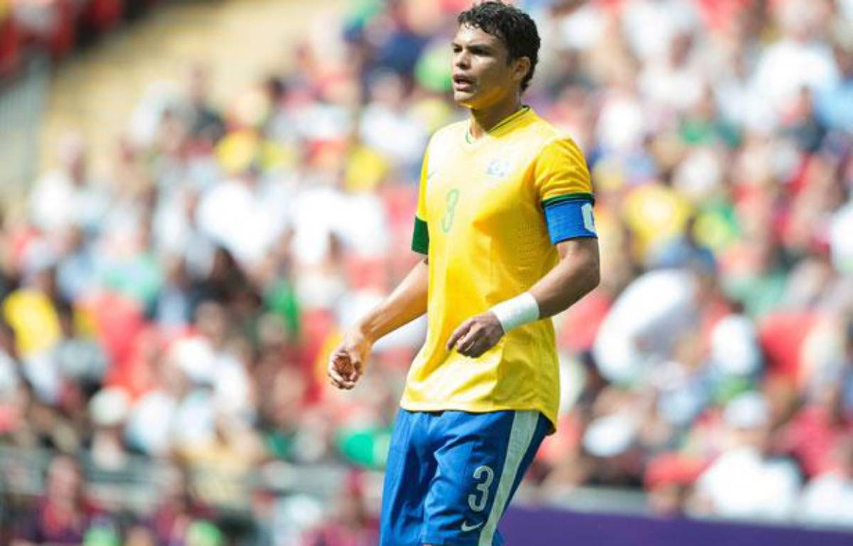 Thiago Silva lors du tournoi olympique avec le Brésil, le 11 août 2012 à Londres. – Chamussy Nivière/SIPA
