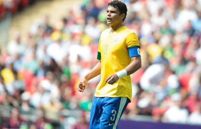 Thiago Silva lors du tournoi olympique avec le Brésil, le 11 août 2012 à Londres.